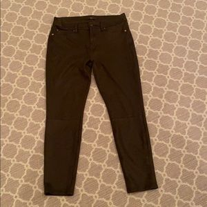 7 for All Mankind Textured Faux Suede Skinny Leg